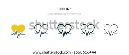 lifeline icon in different style vector illustration. two colored and black lifeline vector icons designed in filled, outline, line and stroke style can be used for web, mobile, ui Stockfoto ©