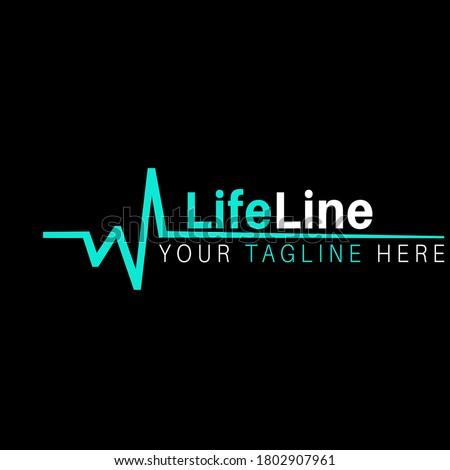 Lifeline illustration vector logo design health care and medical symbols. Stockfoto ©