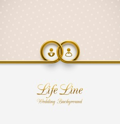 LifeLine, wedding background, eps 10