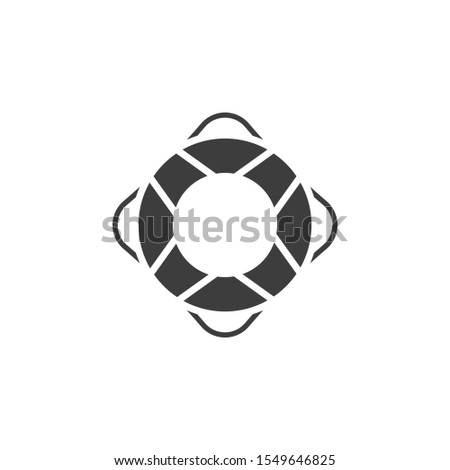 Lifering vector illustration. Glyph style icon Stok fotoğraf ©