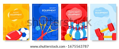lifestyle sports equipment flyer, magazines, poster, book cover, banners. invitation cards concept background. Grain texture, noise effect