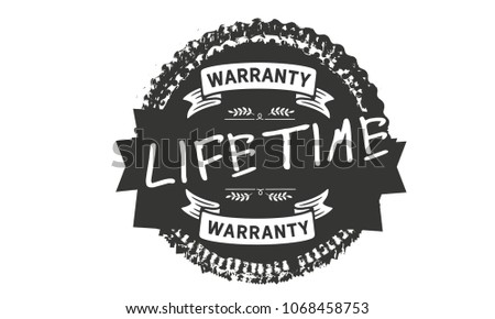 lifetime warranty icon rubber stamp  #1068458753