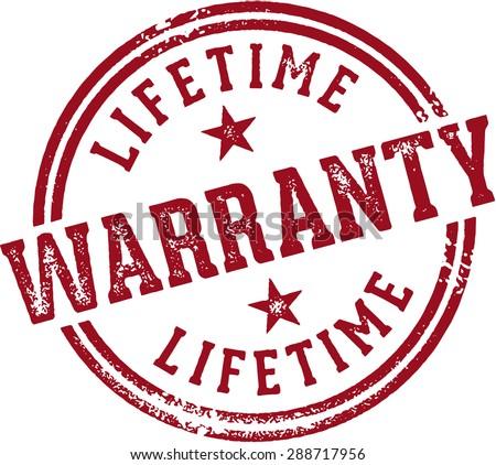Lifetime Warranty Rubber Stamp Stock photo ©
