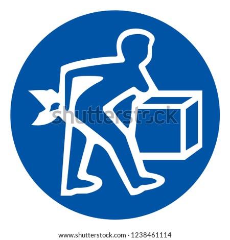 Lift Correctly Symbol Sign ,Vector Illustration, Isolate On White Background Label .EPS10