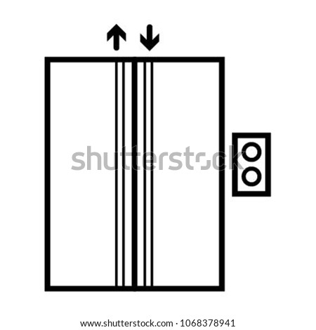 lift elevator icon vector