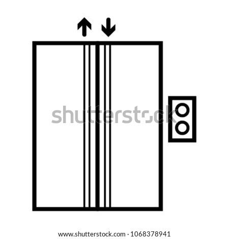 lift elevator icon vector