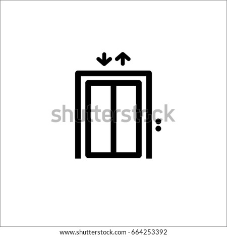 Lift vector icon