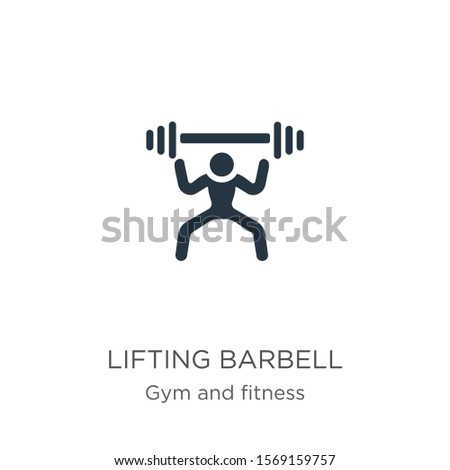 Lifting barbell icon vector. Trendy flat lifting barbell icon from gym and fitness collection isolated on white background. Vector illustration can be used for web and mobile graphic design, logo,