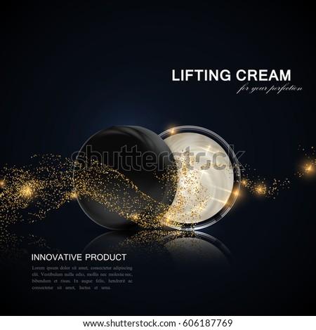 lifting facial cream ads poster