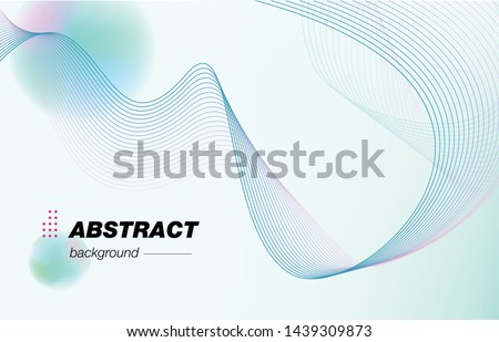 Light abstract background, wavy lines. Designer stylish poster, cover, fond Stock photo ©