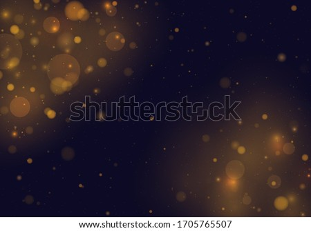 Light abstract glowing bokeh lights. Festive golden luminous background with colorful lights bokeh. Magic concept. Christmas concept.