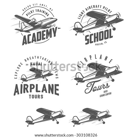light airplane related emblems