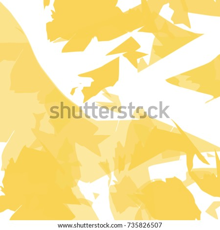 Light And Dark Yellow Shard Shaped Pattern On White Background Vector Illustration