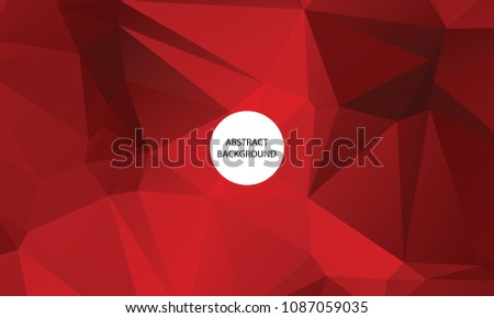 Light And Red Nature Color Polygon Background Design, Abstract Geometric Origami Style With Gradient