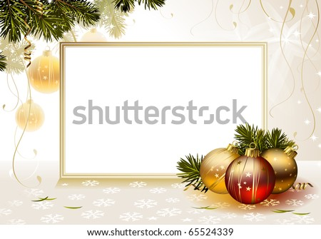 light backdrop with evening balls and card
