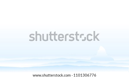 light background with mountains