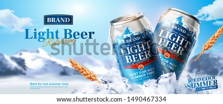 light beer ads banner design