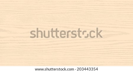 Light beige wood texture background. Empty natural pattern swatch template. Realistic plank with annual years circles. Backdrop size horizontal format. Vector illustration design elements 8 eps
