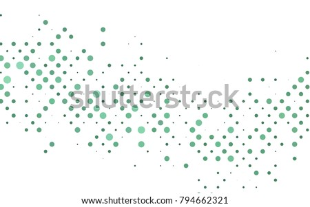 Light Black vector red pattern of geometric circles, shapes. Colorful mosaic banner. Geometric background with colored disks.
