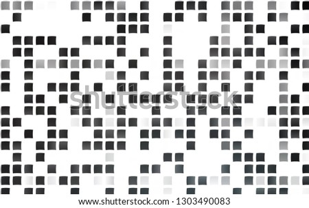 Light Black vector template with crystals, rectangles. Rectangles on abstract background with colorful gradient. Best design for your ad, poster, banner.