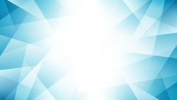 Light blue abstract background with geometric fractal shapes. Modern gradient blue vector illustration.