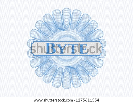 Light blue abstract rosette with text Byte inside