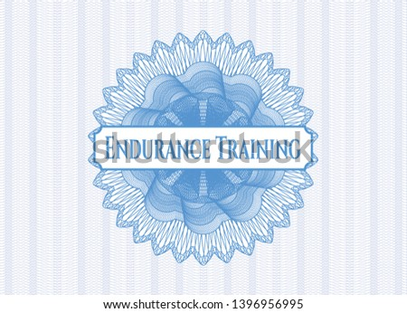 Light blue abstract rosette with text Endurance Training inside