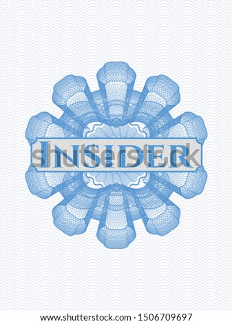 Light blue abstract rosette with text Insider inside