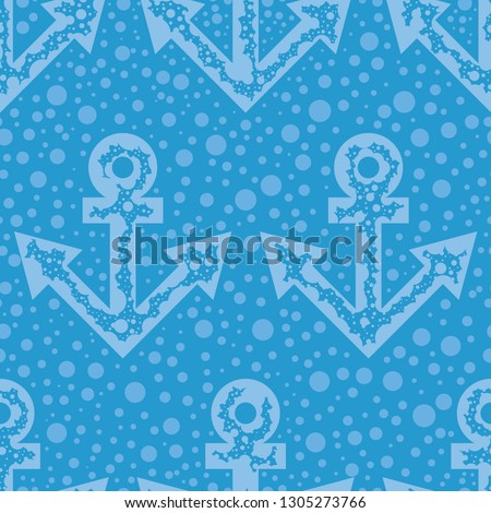 stock-vector-light-blue-anchors-and-dots-a-seamless-striped-pattern-on-the-blue-background-minimalistic