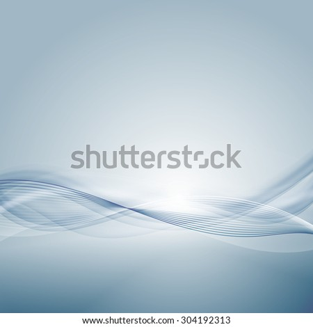 Light blue background with gradient and blend. Business style or technology clean design. Modern vector backdrop with gradient and wave