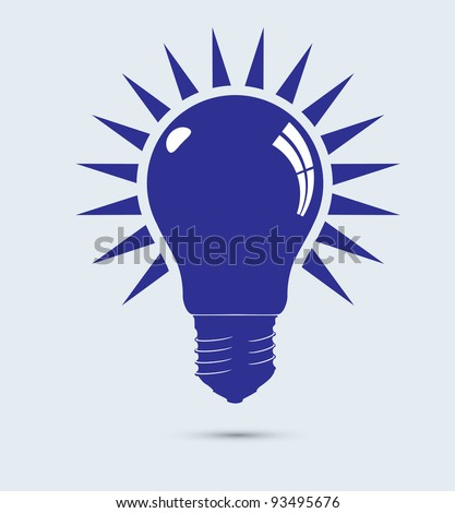 Light blue bulbs vector format