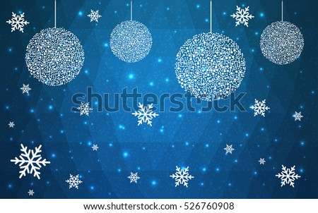 light blue christmas postcard