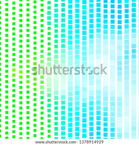 Light Blue, Green vector backdrop with rectangles. Rectangles with colorful gradient on abstract background. Modern template for your landing page.