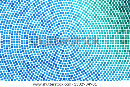 Light Blue, Green vector backdrop with rectangles, squares. Rectangles on abstract background with colorful gradient. Modern template for your landing page.