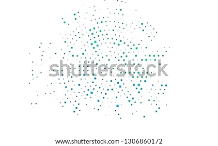 Light Blue, Green vector backdrop with rectangles, squares. Rectangles on abstract background with colorful gradient. Pattern for commercials.