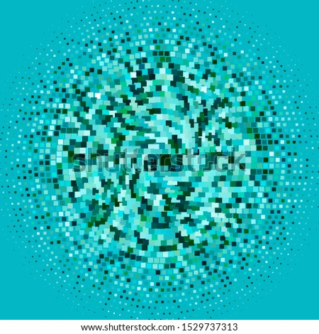 Light Blue, Green vector background in polygonal style. Rectangles with colorful gradient on abstract background. Pattern for commercials, ads.
