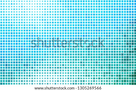 Light Blue, Green vector background with rectangles. Rectangles on abstract background with colorful gradient. The template can be used as a background.
