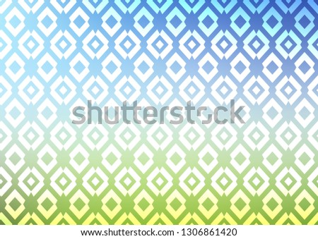 Light Blue, Green vector background with rectangles. Rectangles on abstract background with colorful gradient. Pattern can be used for websites.