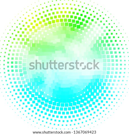 Light Blue, Green vector background with rectangles. Rectangles with colorful gradient on abstract background. Pattern for websites, landing pages.