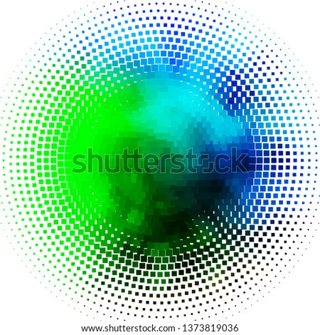 Light Blue, Green vector background with rectangles. Rectangles with colorful gradient on abstract background. Design for your business promotion.