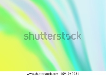 Light Blue, Green vector blurred shine abstract background. Shining colored illustration in smart style. Completely new design for your business.