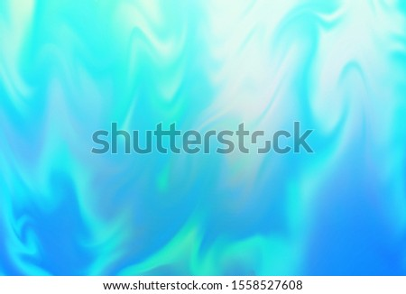 Light Blue, Green vector blurred shine abstract texture. Shining colored illustration in smart style. New way of your design.