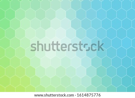 Light Blue, Green vector layout with hexagonal shapes. Abstract illustration with colorful hexagons. New template for your brand book.