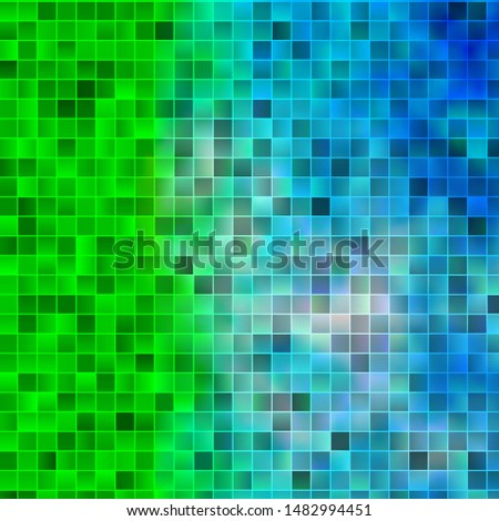 Light Blue, Green vector layout with lines, rectangles. New abstract illustration with rectangular shapes. Pattern for commercials, ads.