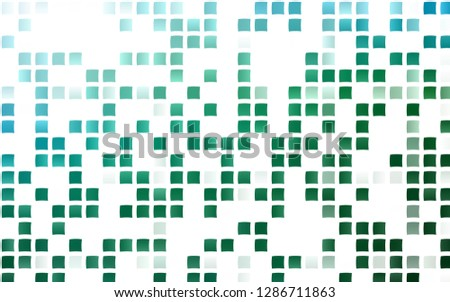 Light Blue, Green vector layout with lines, rectangles. Rectangles on abstract background with colorful gradient. Pattern can be used for websites.