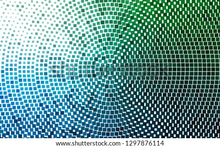 Light Blue, Green vector layout with lines, rectangles. Rectangles on abstract background with colorful gradient. Pattern for busines ad, booklets, leaflets