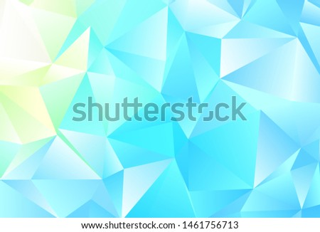 Light Blue, Green vector layout with lines, triangles. Triangles on abstract background with colorful gradient. Pattern for booklets, leaflets