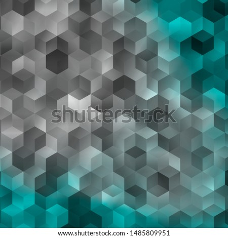 Light Blue, Green vector pattern with colorful hexagons. Colorful hexagons on blur backdrop. Pattern for landing pages.