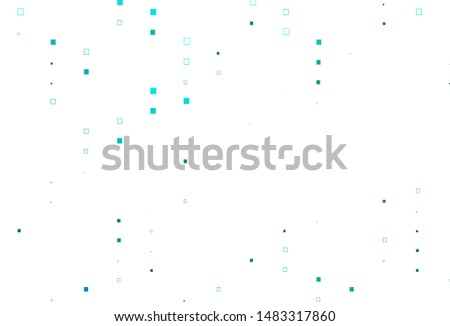 Light Blue, Green vector pattern with crystals, rectangles. Rectangles on abstract background with colorful gradient. Best design for your ad, poster, banner.