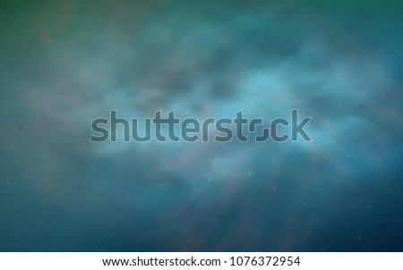 Light Blue, Green vector pattern with night sky stars. Shining colored illustration with bright astronomical stars. Pattern for astronomy websites.